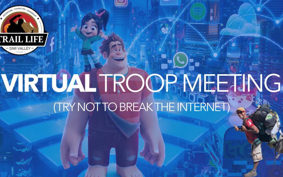 Troop April Update- Virtual troop meetings & Campouts!