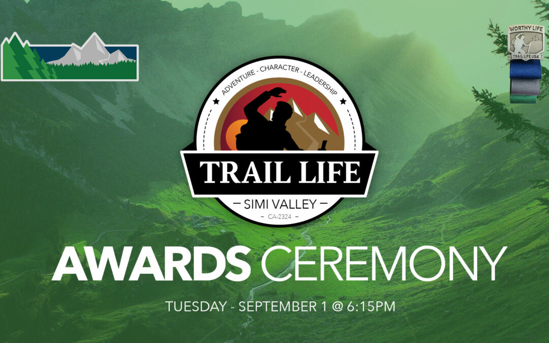 Outdoor Awards Ceremony this week— Tuesday 1-September @ 6:15pm
